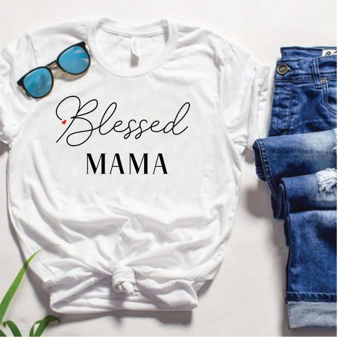 68df37fd7061e Blessed mama, mom of boys, maternity shirt, mom tribe, momma bear ...