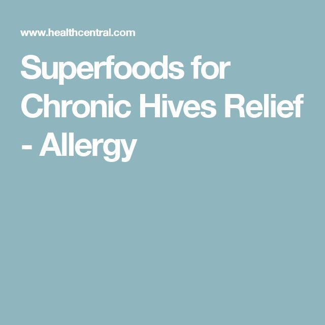 Superfoods for Chronic Hives Relief - Allergy