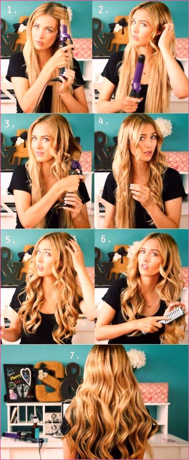 Einfach Frisuren Lange Haare  Langhaarfrisuren, Lockige frisuren
