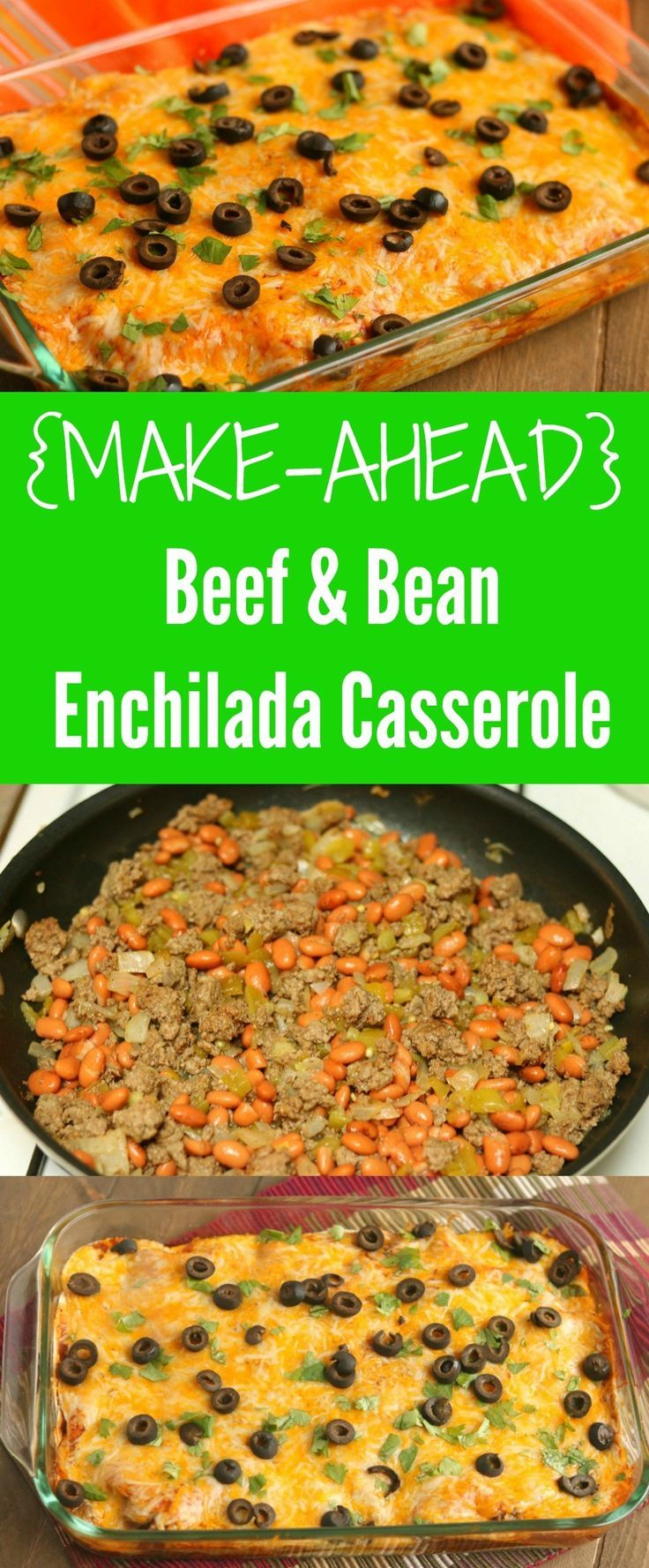 beef-and-bean-enchilada-casserole #ad via http://www.chocolateslopes.com