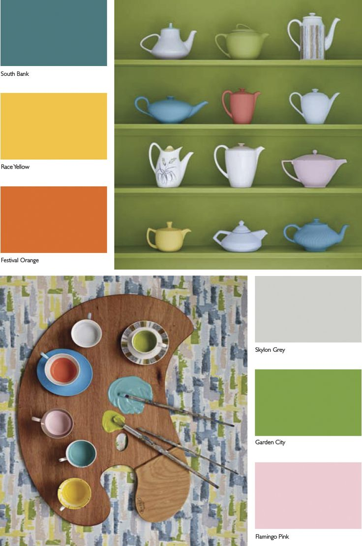 Mid-Century Colour Palette  - Kevin McCloud at Fired Earth