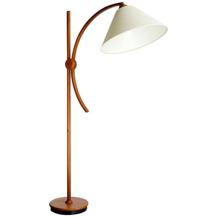 Articulated Scandinavian Floor Lamp | From a unique collection of antique and modern floor lamps at https://www.1stdibs.com/furniture/lighting/floor-lamps/