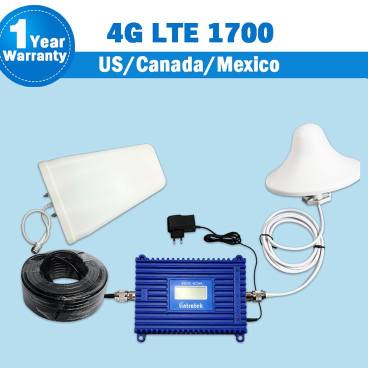 Full Set 3G 4G LTE 1700 FDD Band 4 Cellphone Signal Booster 70dB Gain GSM UMTS 1700mhz Mobile Cellular Repeater Amplifier