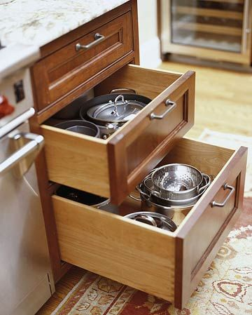 25 best ideas about kitchen drawers on pinterest clever for Kitchen cabinets vs drawers