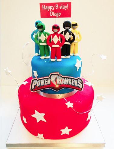 Power Rangers cake