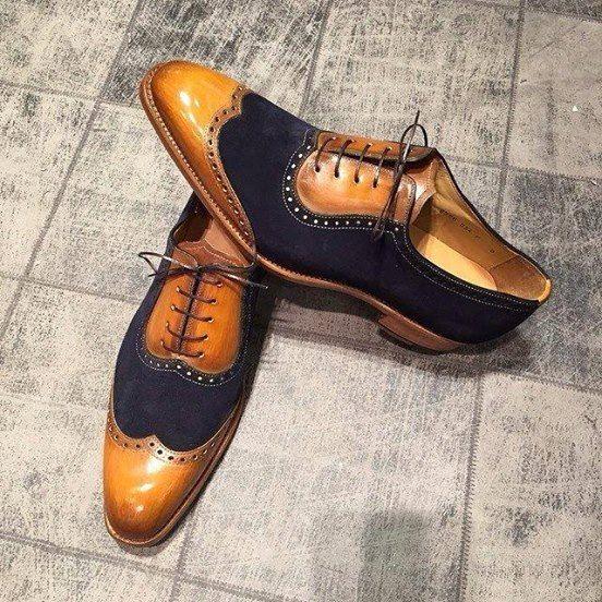 NEW !!!! Patina : blue Suède & clearwood - Model 8776G : 390€