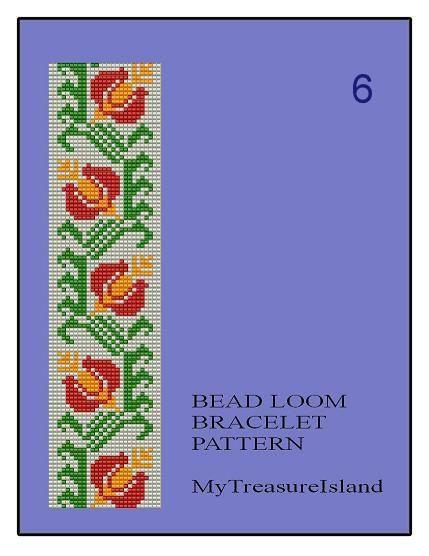 Bead Loom Vintage Floral Border 5 6 7 by MyTreasureIsland on Etsy