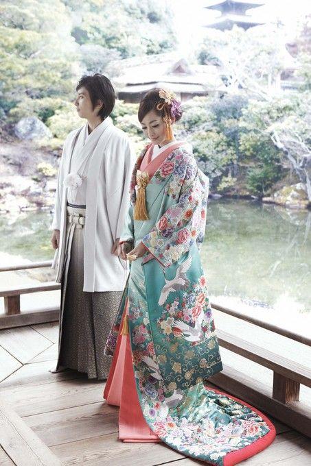 Hermoso kimono para matrimonio