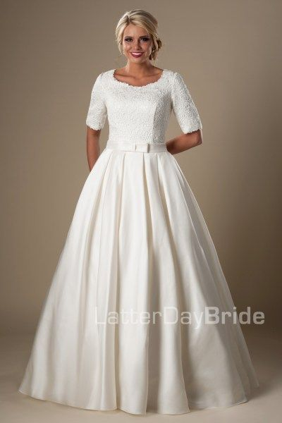17 best images about modest wedding dresses on pinterest for Lds wedding dresses utah
