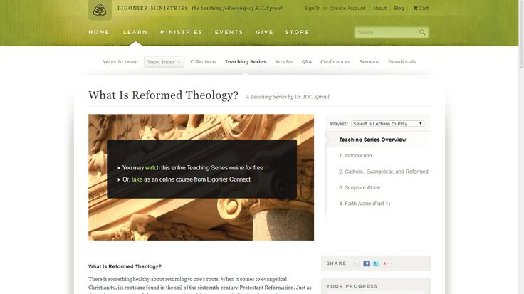 What Is Reformed Theology? Teaching Series by Dr. R.C. Sproul from Ligonier Ministries