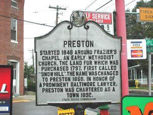 Preston Preston, Caroline County MD 331 at Maple Street, southwest corner