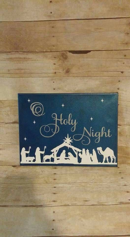 O Holy Night canvas 12x16 by HopeandHibiscus on Etsy https://www.etsy.com/listing/258846757/o-holy-night-canvas-12x16