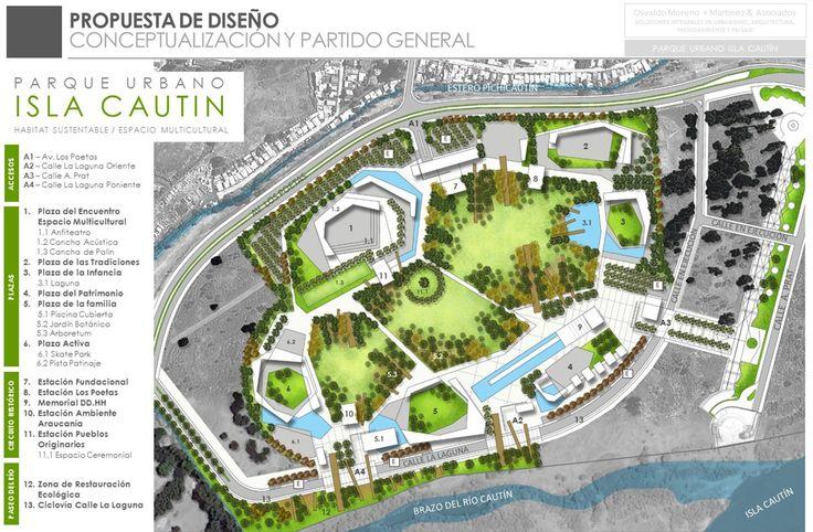 Osvaldo Moreno + Martínez & Asociados, primer lugar en concurso para Parque Urbano Isla Cautín / Temuco