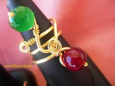 """Ring with semi precious stones"""