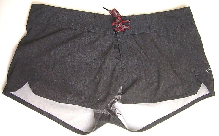 REEBOK CROSS-FIT WOMEN'S SHORTS MEDIUM BLACK LINED  #Reebok #Shorts