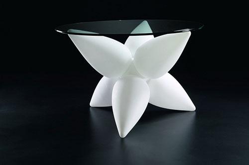 Mesa de diseño para salon en cristal  #mesa #lampara #light #table