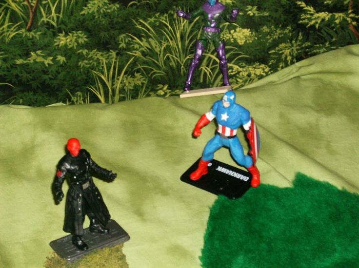 Captain America and the Red Skull