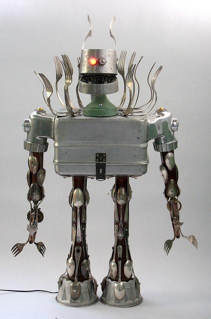 Annihilator - Found Object Robot Creature Assemblage Sculpture by adopt-a-bot, via Flickr