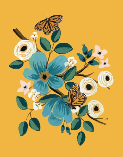 Monarch Art Print by Rifle Paper Co #illustration