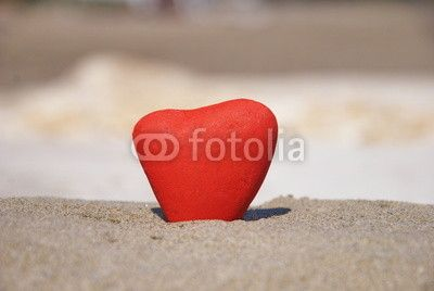 red stone heart symbol of love