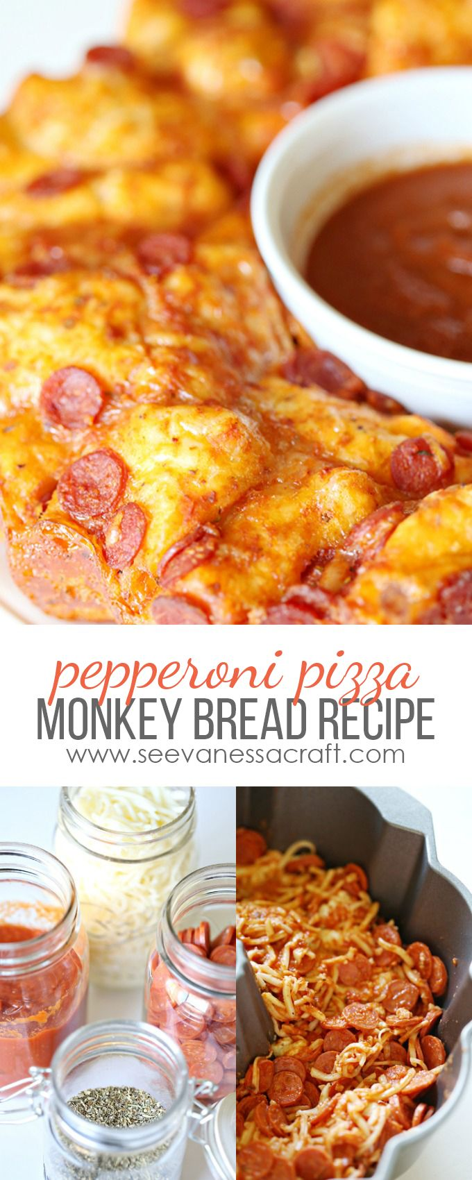 Easy Cheese & Pepperoni Pizza Monkey Bread Recipe
