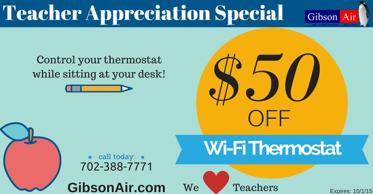 47 best hvac coupons specials discounts images on pinterest wifi thermostat coupon from gibson air las vegas hvac 50 off wi fi thermostat fandeluxe Gallery