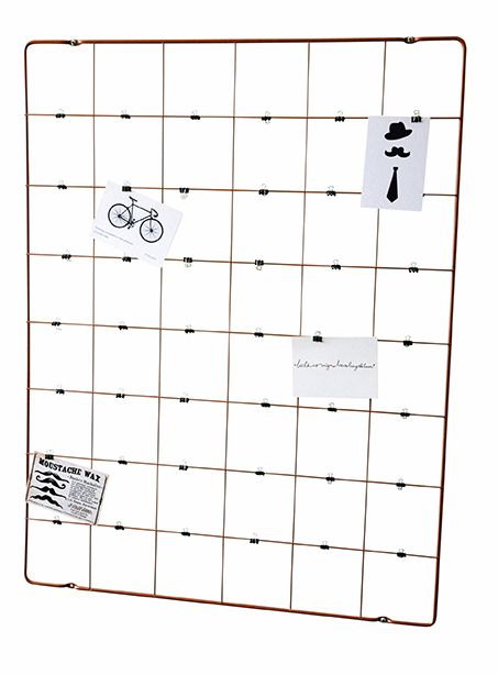 MEMORY FRAME. Picture & Memo Wallrack. Including 42 small metal clips. Available in Black and Copper-finish