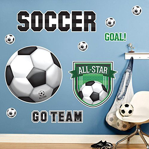 Soccer Room Decor  Giant Wall Decals ** Check this awesome product by going to the link at the image.