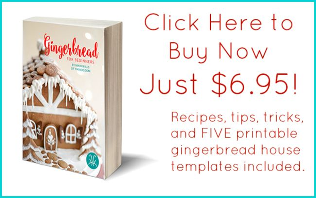 How to make gingerbread cookie shingles for a gingerbread house. Using gingerbread for the decorative elements as well as the basic walls and roof really make an affordable alternative to candy.