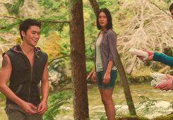 Breaking Dawn 1 - Seth and Leah Clearwater ( Booboo Stewart and Julia Jones )