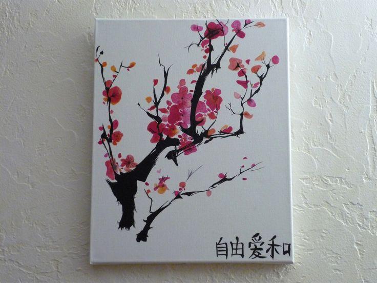 tableau floral fleur de cerisier