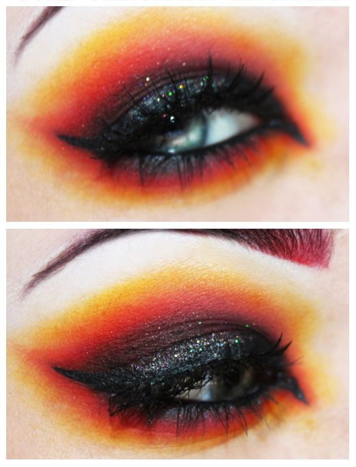 Hunger Games makeup ideas for Halloween.  Hmmm... a little different than the other that I pinned but I like this too.