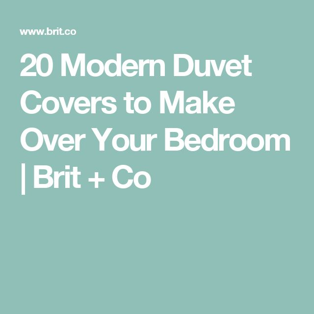 20 Modern Duvet Covers to Make Over Your Bedroom   Brit + Co