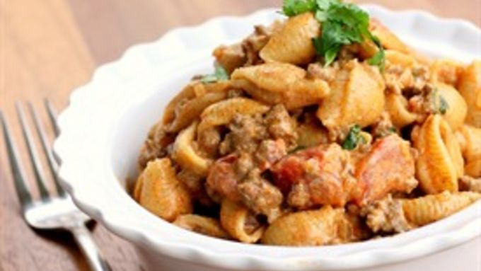 Mexican meets Italian in this quick and spicy pasta.