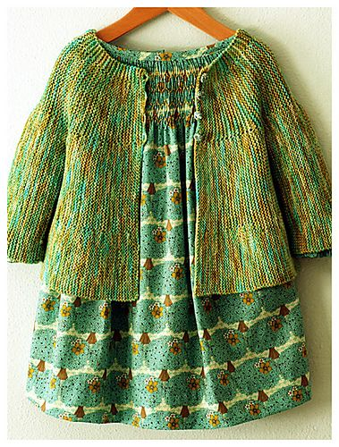 Alicia Paulson's Lichen Sweater - the inspiration for my own baby swing cardi.