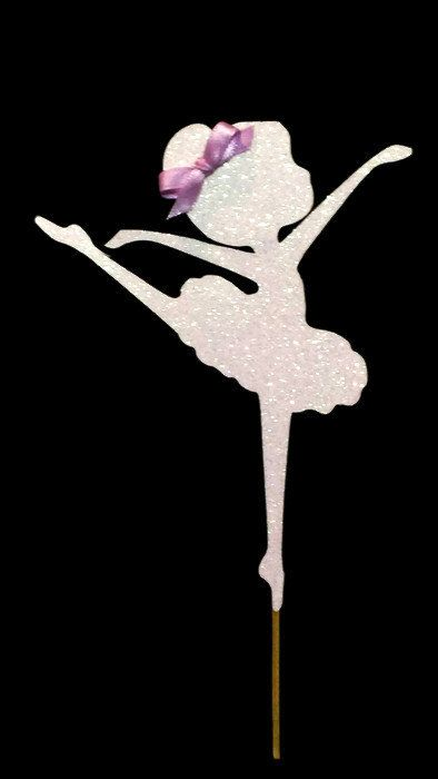 Ballerina Cake Topper Cake Decoration Ballet by CarismaticDesigns