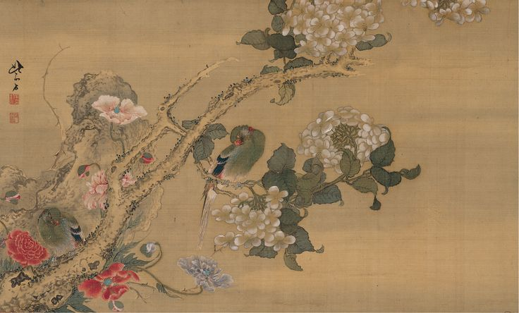 Burke Collection | Parakeets among Flowers