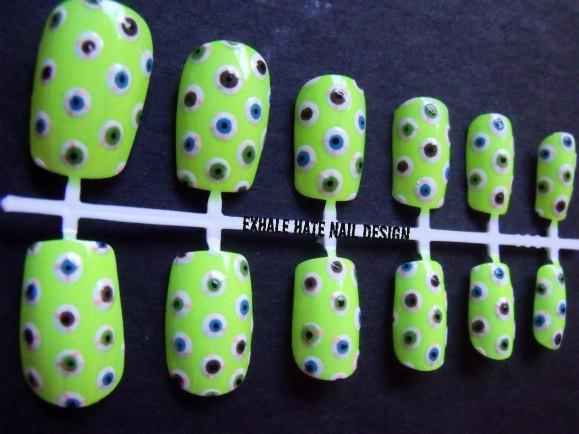 Creepy EyeballsFall Nails, Awesome Nails