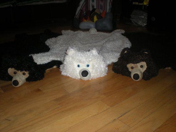 Bear Skin Rug blanket throw costume or make by IndoorAdventures