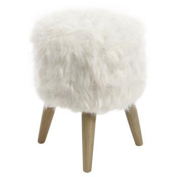 #TATI #Tabouret blanc - D 30 x H 38 cm - 24,99 € - Joli tabouret blanc composé d'une fourure synthétique. Idéal pour créer une ambiance cocooning dans votre intérieur :) !  http://www.tati.fr/canape-fauteuil/fauteuil-pouf/pouf/tabouret-blanc-fourrure-imitation/123290/d0.html?cmpid=pinterest&utm_source=pinterest.com&utm_medium=referral&utm_campaign=pont_tabouret_20150119