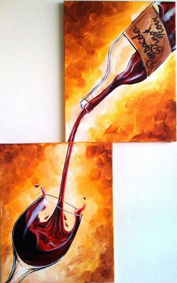 Want A Painting Of Filter Coffee In This Style For The Kitchen 40 Easy A Canvas Art Painting Acrylic Painting For Beginners Easy Canvas Painting