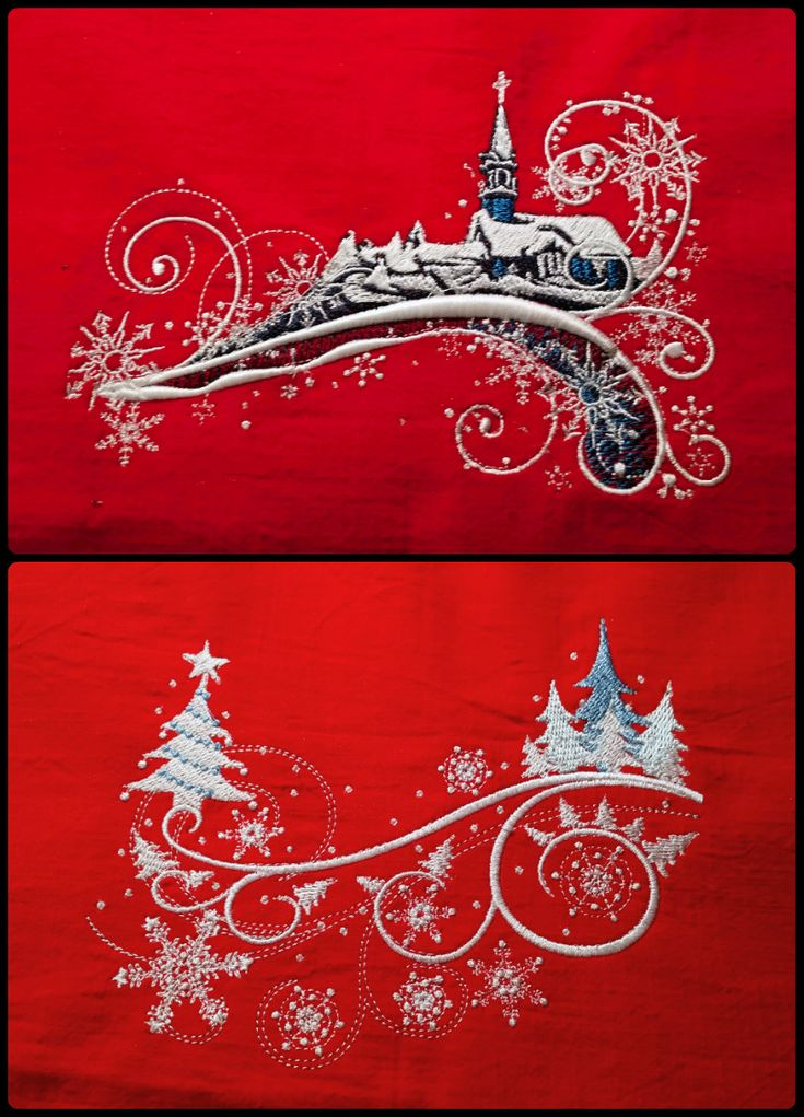 winter embroidery for pillows fb: ka.bela boutique