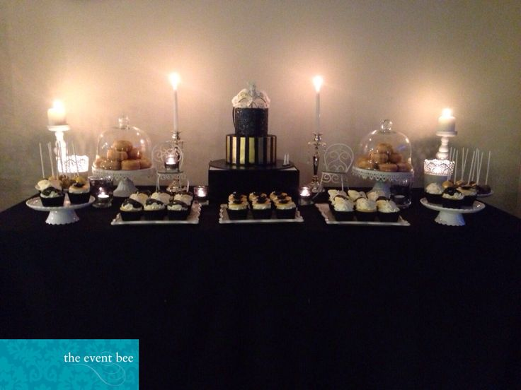 Masquerade 21st dessert table styled by The Event Bee. Follow us on Facebook and Instagram - The Event Bee ❤️❤️❤️
