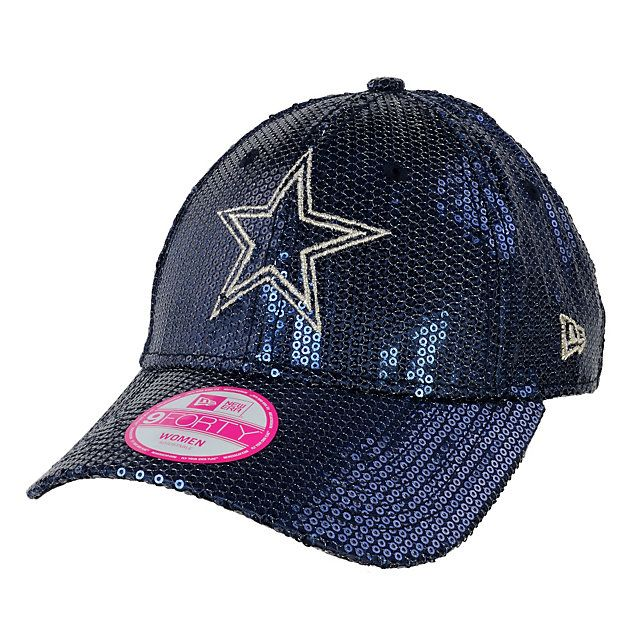 Dallas Cowboys New Era Sequin Bling 9Forty Hat $29.99 m/l and yes I am so serious. OMG THIS WAS MADE FOR ME I NEEEEEEED!!!