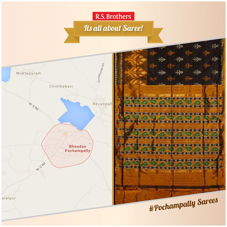 #AllAboutSaree #Pochampally is a small village in the district of Nalgonda - Telangana, it is 50 kms away from Hyderabad. Pochampally is well-known for its weaving technique, 'ikkat' which means tie and dye. These sarees are hand woven, using silk and cotton fabric. Pochampally sarees have designs which are traditional and contemporary. Exclusive #PochampallySarees are Available with Various Design's @R.S. Brothers. (Image copyrights belong to their respective owners)