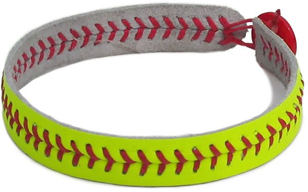 http://www.ehow.com/how_6535389_make-bracelets-out-softball-threads.html  I'm making one(: