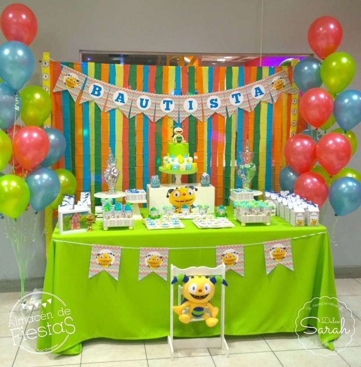 Henry Hugglemonster birthday party! See more party planning ideas at CatchMyParty.com!