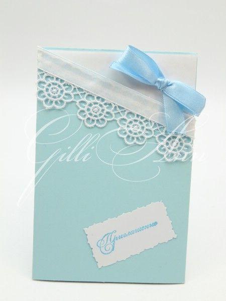Пригласительные на свадьбу Gilliann Pastel blue INV025 #weddinginvitation #weddingaccessories