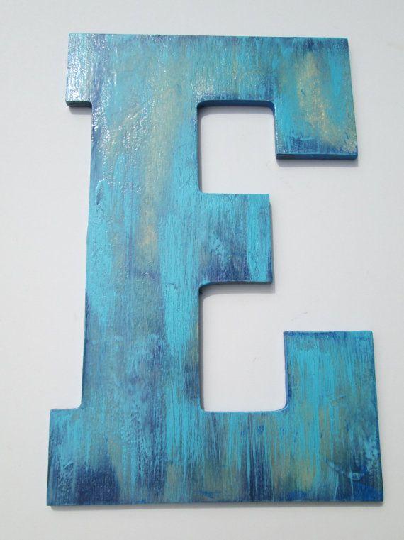 Letter e wall decor 10 inch letter e nursery letter for Large letter e for wall