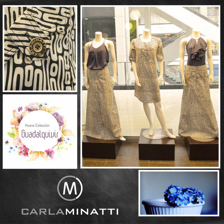 El blanco y negro es parte importante de nuestra nueva colección y nos encanta combinarlo con colores como en este caso el azul cobalto.